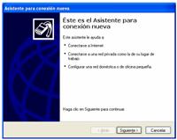 asistente conexion nueva - Configuración de Internet