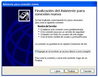 finalizar - Configuración de Internet
