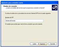 nombre servidor - Configuración de Internet