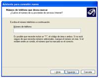 numero telefono - Configuración de Internet
