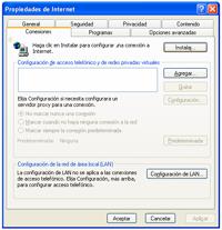 propiedades internet - Configuración de Internet
